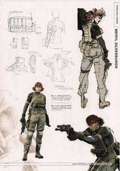 Meryl from Metal Gear Solid 4 by Yoji Shinkawa