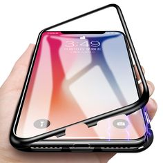 Magnetic Adsorption Case For iPhone XMAX X Anti-knock Tempered Glass Cover For iPhone XR 6 7 8 Plus Metal Frame Full Protective Iphone 6, Iphone 8 Plus, Best Iphone, Coque Iphone, Apple Iphone, Iphone Cases, 6 S Plus, Smartphone, Latest Phones
