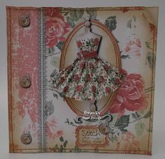 What Shall I Make Today?: Vintage Dress Form Card