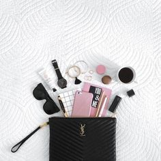 Stash Purse Essentials In A Pouch - If you tend to change handbags frequently, keep the contents of your purse in a removable pouch so you can transfer essentials quickly and efficiently without accidentally forgetting your keys, wallet or (worse) your phone.