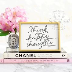 Think happy thoughts! Printable art for your home, in five sizes (landscape orientatioN): 5x7, 8x10, 11x14, A4 and 16x20. High resolution JPG files included. Colorize this:  **** CUSTOMIZE YOUR COLOR SCHEME ****  Purchase any BLACK & WHITE printable art from The Crown Prints and get access to my exclusive online color-changing tool, where you can choose any two-color scheme and colorize your art! A password for file-upload access is shared automatically after purchase from Etsy. Try out the…