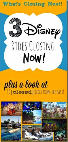 3 Disney World Rides Closing NOW! Plus a look at 10 favorite rides from the past ........ #disney
