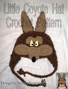 Little Coyote Hat Crochet Pattern PDF by creeksendinc on Etsy