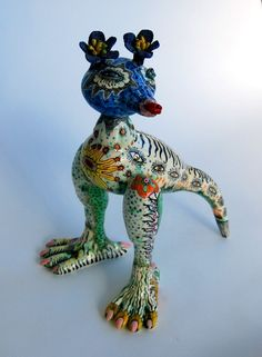 Jenny Orchard - Memphis Voodoo to the Post Natural Ceramic Animals, Clay Animals, Ceramic Clay, Ceramic Pottery, Clay Teapots, Jr Art, Sgraffito, Art Lesson Plans, Clay Projects