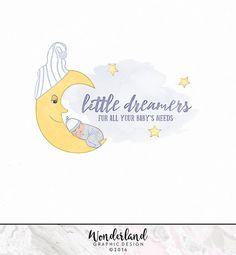 Pre-made Logo, Baby Logo, Nursery Logo, Stars Logo, Shop Logo, Moon Logo, Baby Clothes Logo, Logo Design, Small Business Logo, Sleep Logo