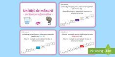 (1) Unități de măsură Cartonașe informative - unități de măsură, metru Curriculum, Texts, Google, Bullet Journal, Resume, Teaching Plan, Texting, Captions, Text Messages