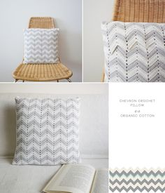 Ideas crochet patterns pillow ripple afghan for 2019 Crochet Cushion Pattern, Crochet Pillow Cases, Crochet Cushion Cover, Chevron Crochet, Crochet Ripple, Crochet Cushions, Manta Crochet, Knit Pillow, Cushion Covers