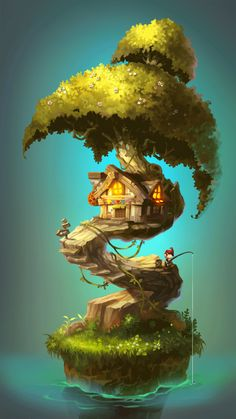 ArtStation - Tree house2, yewon lim
