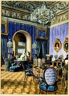 Sala Azul, Palácio Nacional da Ajuda, Lisboa  Enrique Casanova,  1888-1889 fot: Henrique Ruas PNA/ADF