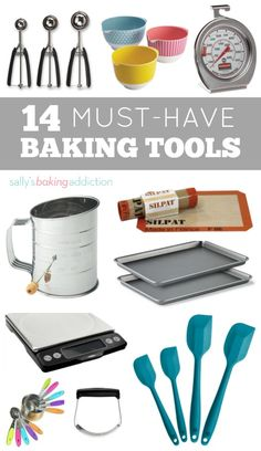 14 Kitchen Tools Every Baker Needs. (Sally's Baking Addiction) 14 Kitchen Tools Every Baker Needs. Baking Supplies, Baking Tools, Baking Products, Decorating Supplies, Kitchen Supplies, Cake Decorating, Baking For Beginners, Baking Gadgets, Baking Hacks