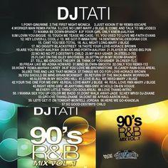 90's R&B Mix Vol.1 Collection Mixtape CD Compilation DJ Tati