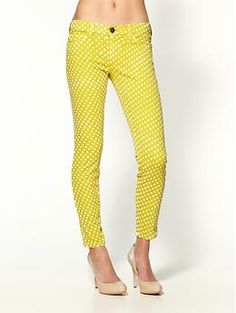 yellow polka dots... these would have been awesome game day pants #fighton