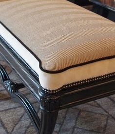 maison et objet, paris upholstery trends. Mix textures, contrasting fabric on sides and top, & piping! Farmhouse Upholstery Fabric, Living Room Upholstery, Upholstery Cushions, Upholstered Furniture, Upholstery Fabrics, Upholstery Tacks, Upholstery Cleaning, Furniture Projects, Diy Furniture