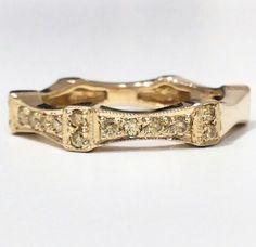Anillo en oro 18k y diamantes amarillos