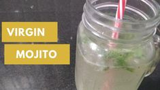 """Here is another chilling drik """"Virgin Mojito"""" which is a easy to make at home and you can enjoy it at any time. Virgin Mojito, Lemon Recipes, Love Food, Food To Make, Summertime, Cooking Recipes, Canning, Drinks, Easy"""