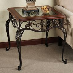 Clairview End Table Regal Walnut