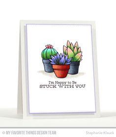 Sweet Succulents  - Stephanie Klauck  #mftstamps