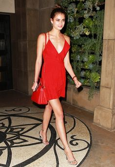 Taylor Hill proves that a little red dress should be everyone's go-to for a date night.