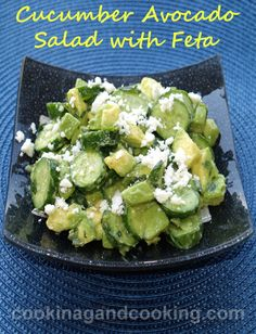Cucumber Avocado Salad with Feta Recipe