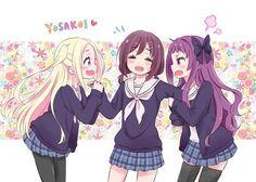 Hanayamata <3 Hana, Naru, and Yaya