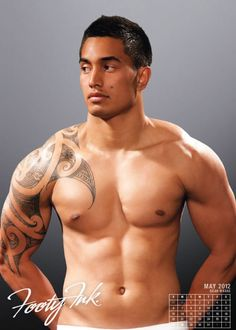Dean Whare from the National Rugby League in the Footy Ink 2012 Calendar.