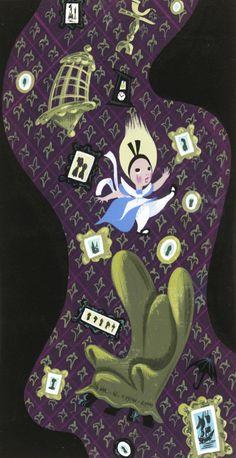 Disney's Alice in Wonderland artwork by Mary Blair. #DisneyAnimated