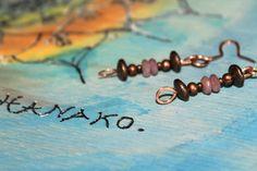 Earrings Copper & Ruby par AtelierHanakoStone sur Etsy