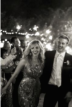 New Years Eve Wedding | Sparkler Sendoff | Bridal Musings Wedding Blog