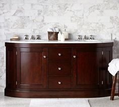 Brinkley Demilune Double Sink Console