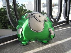 Green sheep by Coco_Flower, via Flickr