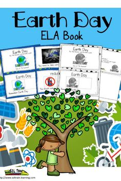 Perfect for the reluctant learners! This cute EARTH DAY ELA BOOK is great for teaching VOCABULARY about EARTH DAY. It is one of 5 books associated with our APRIL WORD OF THE DAY calendar. Your kids can learn words like RECYCLE, CONSERVE and REUSE in a fun PIGGY BACK SONG format! These WORD OF THE DAY books make a great literacy center. The teacher guide explains how well our April calendar goes with these books. We have also included real EARTH DAY photos and questions about EARTH DAY.