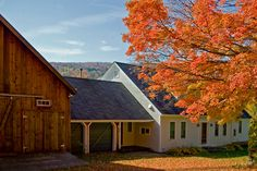 Vermont Farmhouse Attached Barn Design Ideas Pictures Remodel And Decor