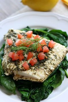 Slow Cooker Lemon Dill Halibut made in a foil packet. No fishy smelling house and super easy clean up makes this a winning way to make fish.