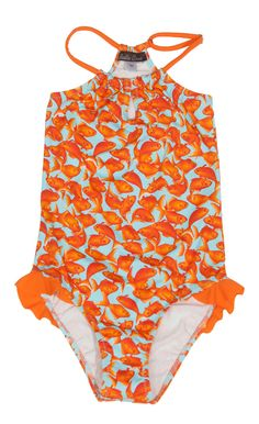 Goldfish swimsuit For Girls. Swimsuit with Little Goldfish. Shop for the best swimsuits for girls at stella cove. Your number one online store