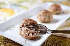 Roasted Garlic and Herb Meatballs