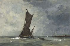 Edward Seago | (43) Thames Barge Off Landguard Point