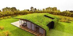 Residência unifamiliar em Barcelona/Espanha - Telhado Verde, Cobertura Verde, Eco Telhado, Green Roof, são denominações para o cultivo de plantas sobre o telhado ou uma laje impermeabilizada com uma drenagem adequada.