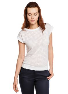 Купить ФУТБОЛКА С ГЕОМЕТРИЧЕСКИМ ДИЗАЙНОМ (LT8O82) в интернет-магазине одежды O'STIN