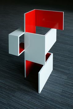 Brantt - Red-30/60.100.90, 60×100×90 cm., high gloss paint on MDF