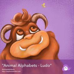 Ludo for #animalalphabets @AnimalAlphabets #kidlitart #characterdesign #picturebook #ludo #monstermovies #labrynth #picturebooksofinstagram #procreate