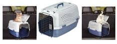"""Pet Kennel Top Load 23"""" Dog Cat Puppy Travel Crate Carrier Cage Box Tray 2 Doors #PetCarriers"""