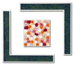 Face - Stabilized satin #moss, #rosebuds #peach #colour, dark #rose, #champagne rose and #red rose. #Wood #frames. - by #LinfaDecor