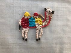 Boho Camel Embroidery Patch Animal Applique,Indian Embroidery Patch,Handmade Multicolour Animal Patch,Boho Quirky Patch,Animal Bag Charm by IndianCraftSafari on Etsy Embroidery On Kurtis, Hand Embroidery Dress, Kurti Embroidery Design, Indian Embroidery, Folk Embroidery, Hand Embroidery Stitches, Embroidery Patches, Hand Embroidery Designs, Ribbon Embroidery