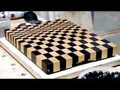 Making a 3D end grain cutting board #9