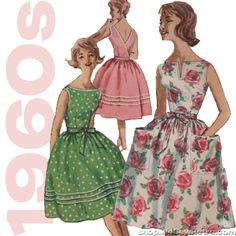 1960s Wrap Around Dress Vintage Sewing Pattern - Simplicity 3463