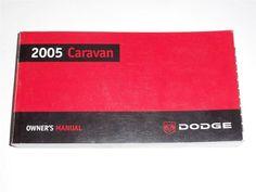 2005 Dodge Caravan Owners Manual Book