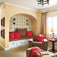 Highlight an alcove by wallpapering the back wall (Photo: Van Chaplin)
