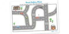 Road Safety Crossings Maze Activity Sheet - FREE download
