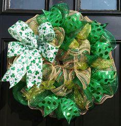 Saint Patrick's Day Wreath St. Patrick's Wreath by WreathsByRobyn