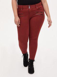 Mini Shirt Dress, T Shirt Bra, Red Chiffon, Super Skinny Jeans, Wide Leg Jeans, Jeggings, Torrid, Zip, Curves